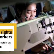 Foto Textilarbeiterin in Bangladesch