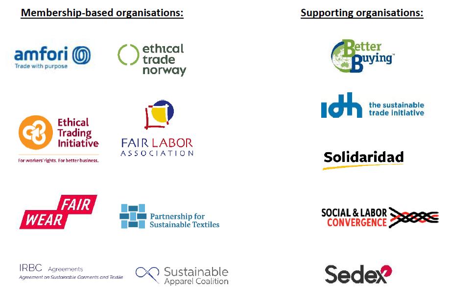 Logos verschiedener Mulit-Stakeholder-Initiatives