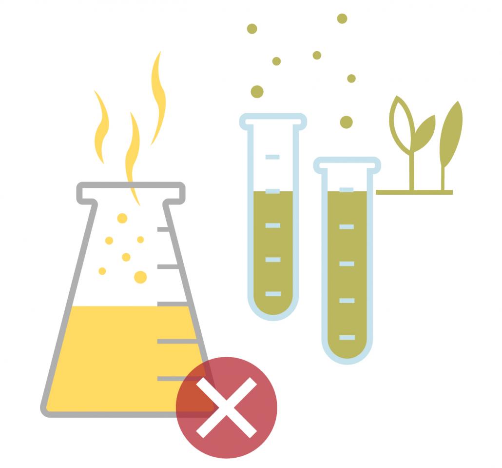 Chemikalien in Reagenzgläsern