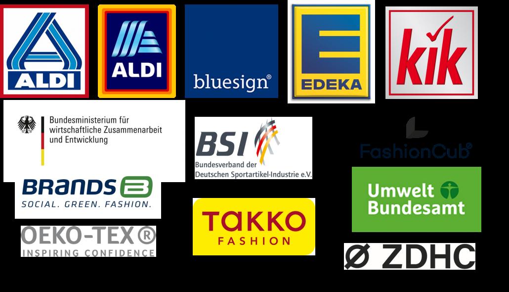 vielzählige Logos von Bündnismitgliedern