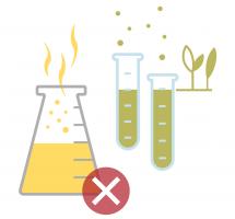 Grafik: Chemikalien in Reagenzgläsern