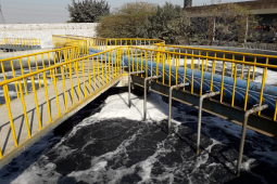 Foto von dem Abwasser einer Fabrik
